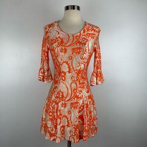 Vintage Groovy 60's Go Go Mini Dress T3539